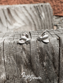 Zilveren bij oorstekers