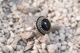Black Sterling Silver Onyx ring