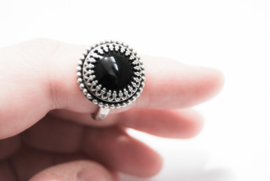 Black Sterling Silver Onyx ring