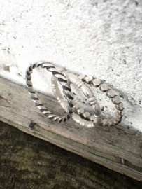 Set van drie 2,5mm sterling silver zilveren stapelringen