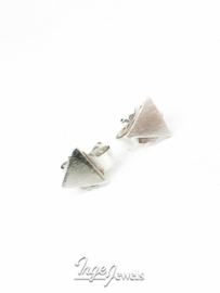 Sterling silver 5mm triangle earrings