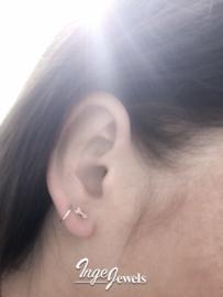 Sterling silver arrow stud earrings