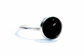 Handgemaakte ring met Onyx