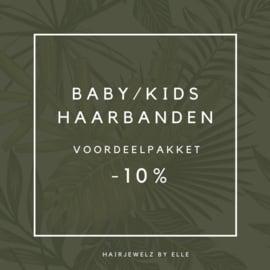 "Voordeel pakket: ""Baby/kids Haarbandjes  """