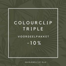 """Voordeel pakket: """"Colourclip Triple"""""""