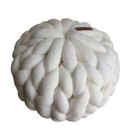 Kussen Rond | Wit (chunky katoen)