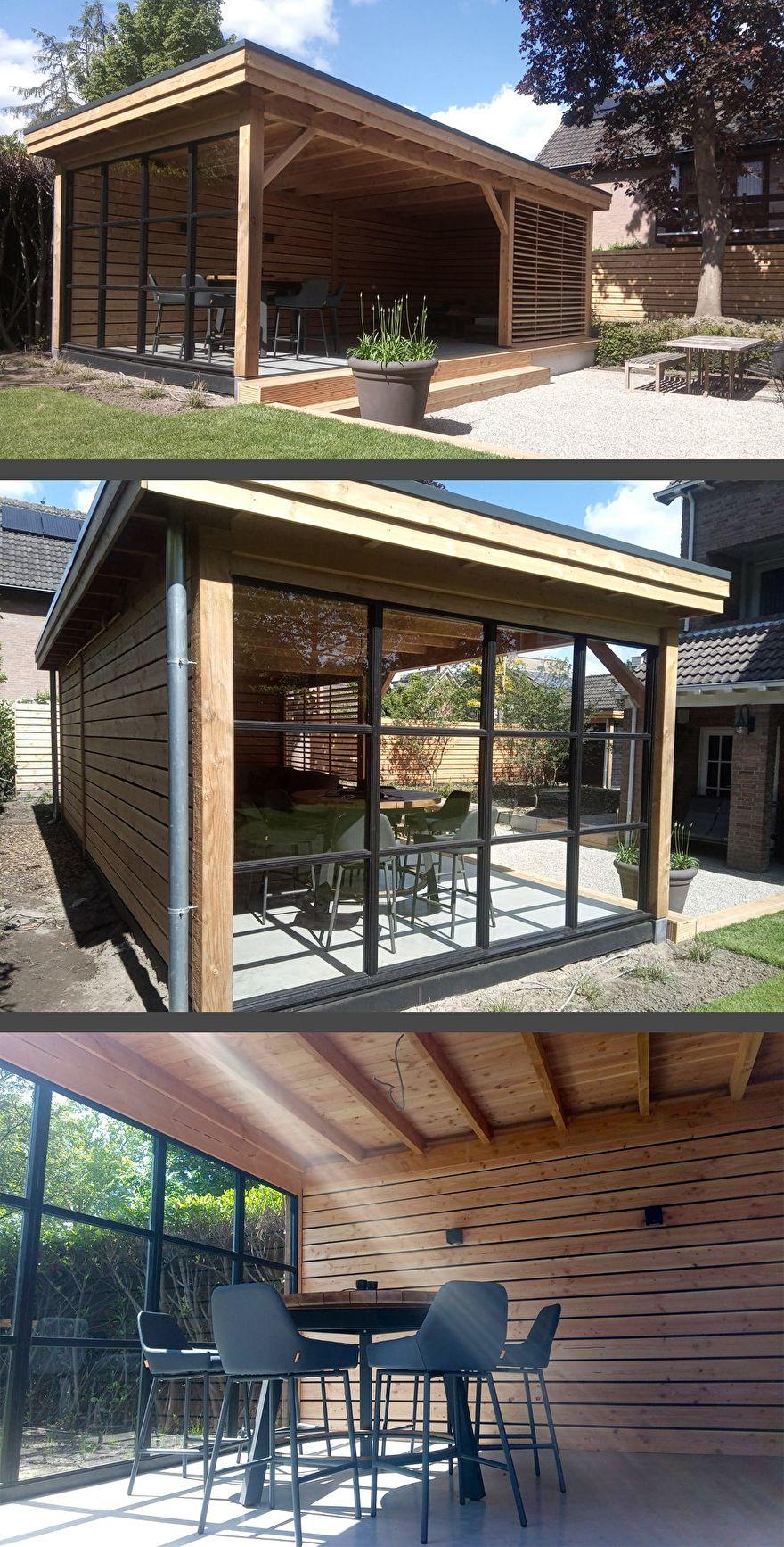Aandacht Huis & Tuin Montageservice - Overkapping met Glazen wand