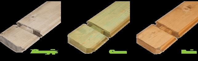 kleuren geimpregneerd hout blokhut