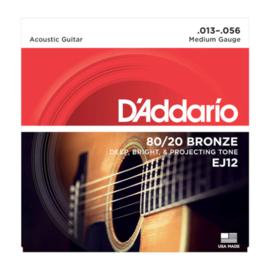 D'Addario EJ12 80/20 Bronze Acoustic 13-56