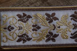 Bluebird Vintage & Rare Series - Vintage Gold Flowers Pattern