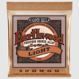 Ernie Ball 2148 Earthwood Phosphor Bronze Light 11/52
