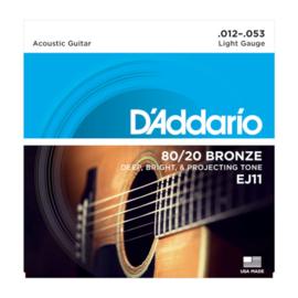 D'Addario EJ11 80/20 Bronze Acoustic 12-53