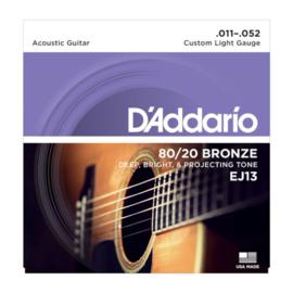 D'Addario EJ13 80/20 Bronze Acoustic 11-52