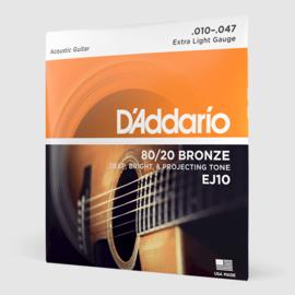 D'Addario EJ10 80/20 Bronze Acoustic 10-47
