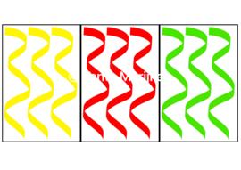 Serpentine L rood/geel/groen