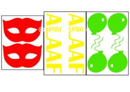 Mixpakket XL rood/geel/groen