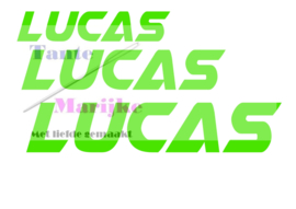 Naamsticker Lucas