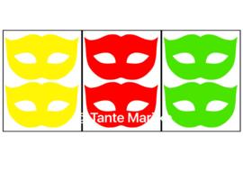 Maskers rood/geel/groen