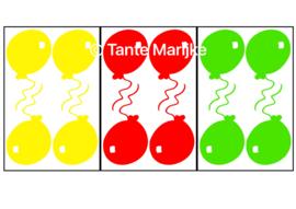 Ballonnen rood/geel/groen