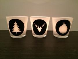 3 waxinelichtjes kerst