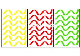Serpentine M rood/geel/groen