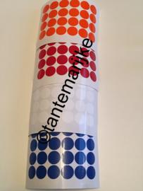 Confetti rood/wit/blauw/oranje