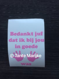 Losse sticker zeeppompje
