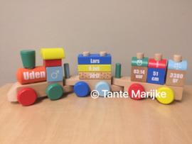 Stickers houten trein