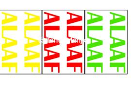 Alaaf rood/geel/groen