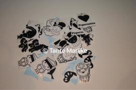 3 losse stickers sinterklaas