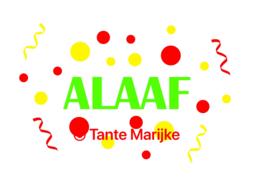 Alaaf met serpentine en confetti
