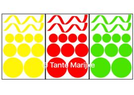 Mixpakket serpentine en confetti rood/geel/groen