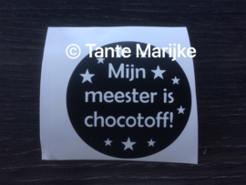 Losse sticker chocotoff