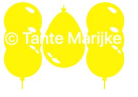 Raamstickers 3 ballonnen