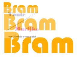 Naamsticker Bram