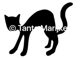 Zwarte kat Halloweenk