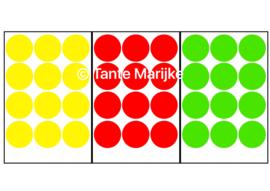 Confetti M rood/geel/groen