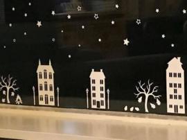 Set huisjes herst-Halloween-sint en kerst 1,5 meter