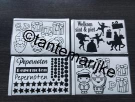 losse stickers sinterklaas per vel