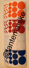 Mixpakket serpentine en confetti rood/wit/blauw/oranje