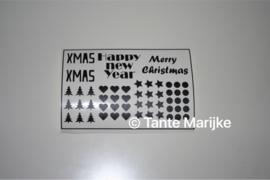 Stickers kerstballen en andere dingen