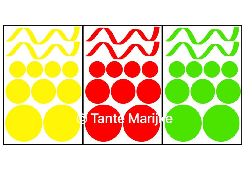 Mixpakket serpentine en confetti 3 vellen