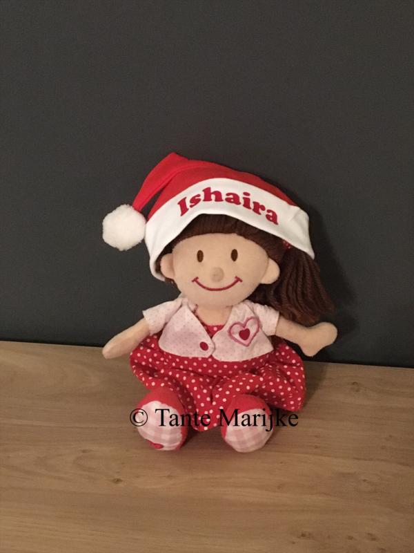 Baby kerstmuts met naam