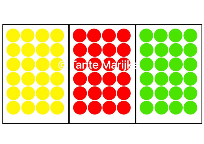 Confetti S rood/geel/groen