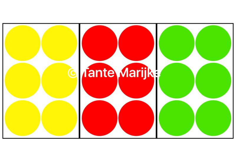 Confetti L rood/geel/groen