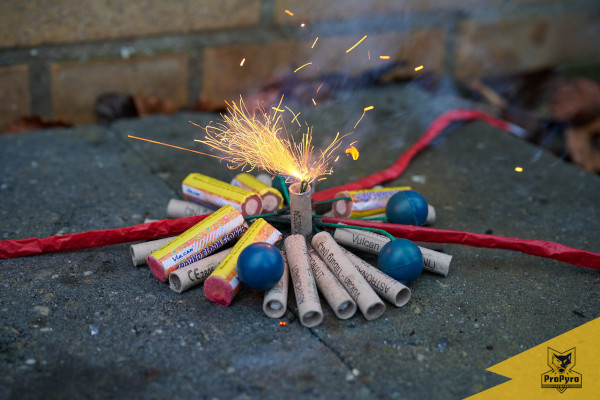 Heksenkringetje van Categorie 1 vuurwerk