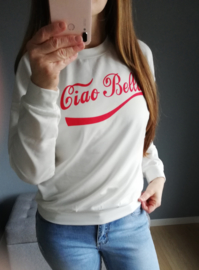 sweater ciao bella wit