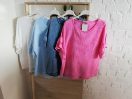 ruime tetra blouse fuchsia