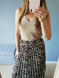 maxi rok luipaardprint bruin