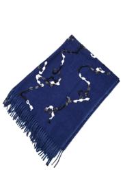 sjaal met pailletten blauw